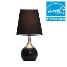 black high modern touch lamp