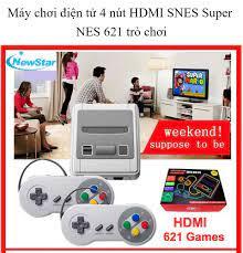 Máy chơi game 4 nút HDMI SNES Super NES 621 trò chơi-Doanh Số Bán Chạy Nhất  Retro PS - Máy chơi game kết nối tivi 2 người chơi nhiều game hơn sup