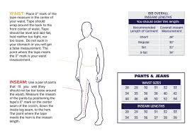 Lapco Fr Sizing Information