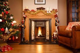 Xmas Living Room Christmas Living Room Decor White Ceilings White Table Lamp White