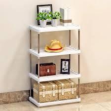 multifunctional shelf storage rack white