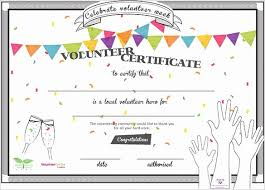 Certificate Of Appreciation Volunteer Work Volunteer Certificate Of Appreciation Templates