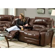 reclining sofa w drop down table with ashley