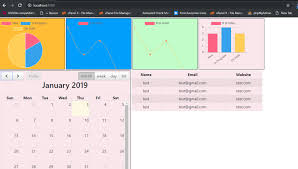 How To Add Chart Js Datatables Fullcalendar In Angular