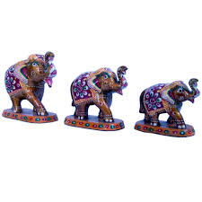 buy paper mache 3 piece elephant home decor gift 159 online