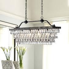 curtain breathtaking rectangular glass drop chandelier 17 antique bronze 4 light round crystal engaging rectangular glass