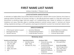 Network And Computer Systems Administrator Sample Resume Interesting Resume Sample For Network Engineer Letter Resume Directory