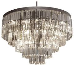 the gallery odeon crystal fringe 5 tier chandelier chandeliers