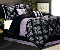 awesome black and purple bed set bedroom on