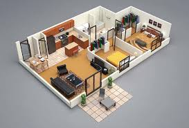 concept 3d floor plans in diffe layout for one story and 2 story house ideas complete with materials for floors and walls furnitures