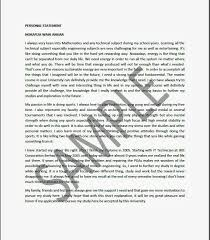 University Personal Statement Examples Personal Statement For Uni Application