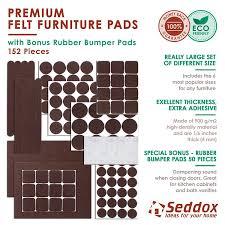 Seddox PREMIUM Felt Furniture Pads Set 152 pieces Including