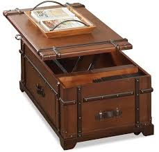 steamer trunk lift top cocktail table by riverside