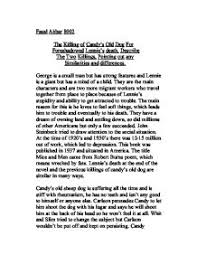 the killing of candy s old dog for foreshadowed lennie s  page 1 zoom in