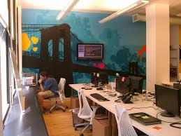 Graffiti artist for hire - Custom interior mural at the Living Social  office in NYC |