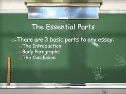 the essay and the writing process ppt the essential parts there are 3 basic parts to any essay