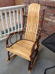 furniture rustic outdoor rocking chairs chair kit nursery wooden cushions rattan based with light brown seat
