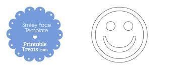 Printable Smiley Face Template Printable Treats Com