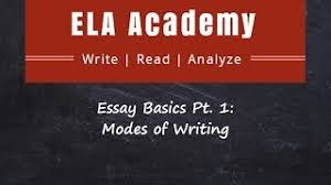 rhetorical modes essay basics pt 1 modes of writing ela academy