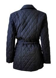 Black Diamond-Quilted Belted Jacket & Ladies Black Diamond-Quilted Belted Jacket Adamdwight.com