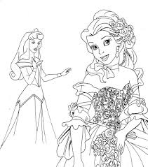 Small Picture Disney Princesses Coloring Pages glumme