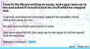 Example about Random act of kindness essay
