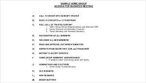Sample Of Agenda Meeting Agenda Sample 30 Examples In Word Pdf