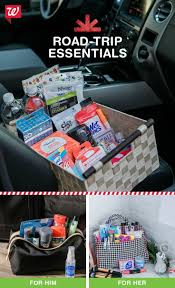 17 best ideas about car essentials car hacks car keep everyone in the car happy a basket of on the road essentials