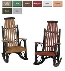 architecture poly rocking chair incredible from dutchcrafters amish furniture with regard to 0 from poly