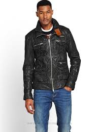 get further superdry super falcon leather jacket mens coats mens oxnh ug coats colour black