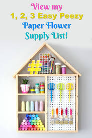 Paper Flower Suppliers Make Your Own Paper Flowers Paper Flower Making Supply List