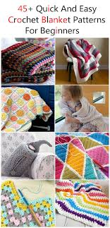 Easy Crochet Blanket Patterns For Beginners Delectable 48 Quick And Easy Crochet Blanket Patterns For Beginners Listing More