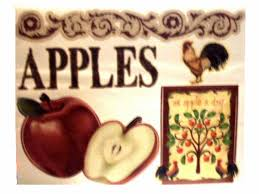 Apple Wall Decor Kitchen Apples Roosters Wall Decals Country Kitchen Decor