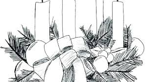 Advent Wreath Coloring Page Coloring Source Kids Advent Wreath