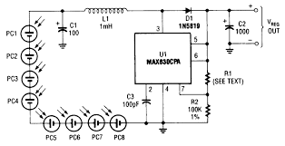 simple photocell power supply using max630 power supply circuits