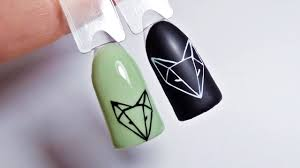 дизайн ногтейгеометрия лисаksana Groza Nail Art Blog