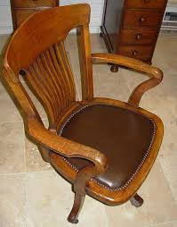 vintage oak revolving desk chair antique oak office chair