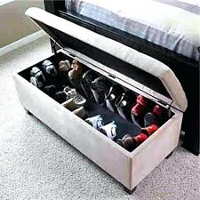 shoe storage ottoman bench inspiring bedroom storage ottoman bench with ottoman with shoe storage living design