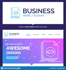 Code Blue Designs Beautiful Business Concept Brand Name Code Coding File