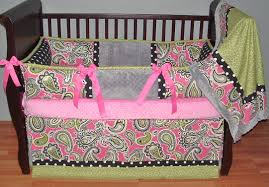 fascinating baby girl nursery room decoration using paisley baby girl bedding set interesting image of