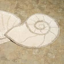 southwestern bathroom rugs luxury nautilus shell bath rug