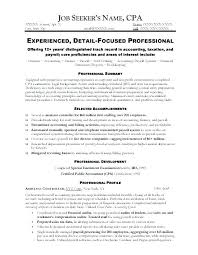 Resume Template Accountant Assistant Reconciliation Accountant