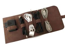 image 0 charger cord organizer travel leather cable holder cord organizer