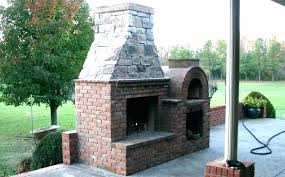 cool outdoor fireplace and pizza oven combo plans