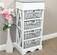 Wicker Basket Cabinet Bathroom Storage Cabinets With Wicker Drawers House Decor