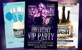 Birthday Flyer Templates Free Beauteous Top Birthday Flyer Templates For Photoshop Flyersonar Com Nice