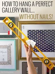 gallery wall without nails