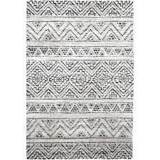 black white grey rug 5 x 8 medium beige ivory and charcoal gray area rug black