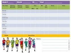Printable Running Calendar Workout Calendar Pinterest Running