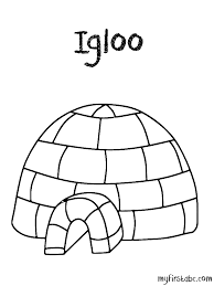 Small Picture Igloo Coloring Page fablesfromthefriendscom